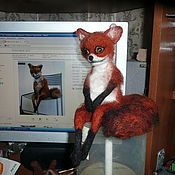 Куклы и игрушки ручной работы. Ярмарка Мастеров - ручная работа упоротый лис. Handmade.