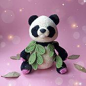 Куклы и игрушки handmade. Livemaster - original item Panda Lucy, bear knitted toy. Handmade.