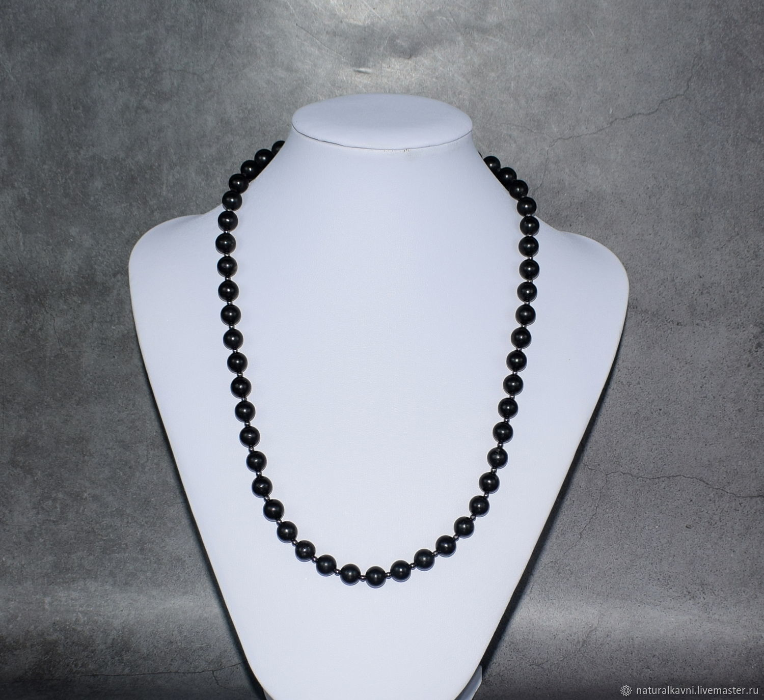 Beads made of natural stone shungite, Beads2, Moscow,  Фото №1