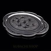 Посуда handmade. Livemaster - original item Tray of silver. Kubachi.. Handmade.