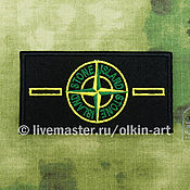 Материалы для творчества handmade. Livemaster - original item STONE ISLAND badge (colour, WITHOUT covering the background) (without buttons). Handmade.