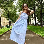 Одежда ручной работы. Ярмарка Мастеров - ручная работа Сарафан мятный и голубой. Handmade.
