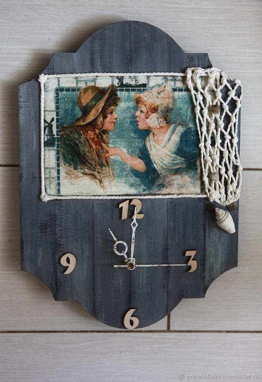 Часы настенные Девчонки с побережья.Голландские мотивы, Часы, Москва, Фото №1