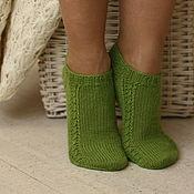 Аксессуары handmade. Livemaster - original item Short slim woolen socks
