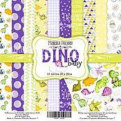 Материалы для творчества handmade. Livemaster - original item Set FDSP-02038 Paper Dino Baby. Handmade.