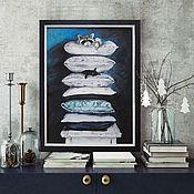 Картины и панно handmade. Livemaster - original item Cushion, 30h40cm, Painting in the nursery, Acrylic, framed. Handmade.