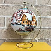 Сувениры и подарки handmade. Livemaster - original item Christmas tree toys: Winter Village balloon /V. 12 cm/. Handmade.