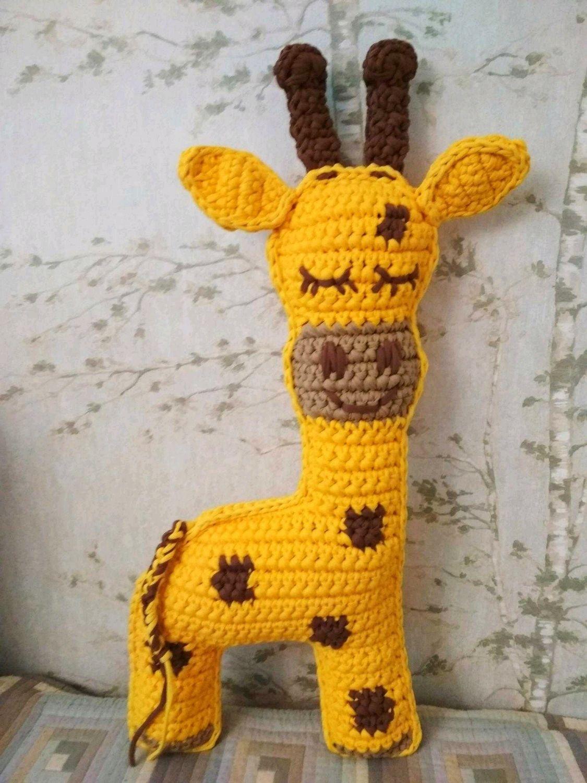 Жираф, вязанный из трикотажной пряжи, Мягкие игрушки, Красногорск,  Фото №1