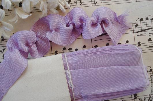 Вышивка ручной работы. Ярмарка Мастеров - ручная работа. Купить Винтажная лента Франция 20 мм., цена за 9 см., цвет сиреневый. Handmade.