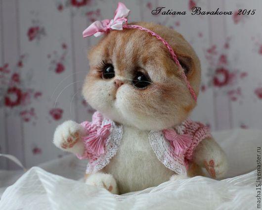 """Куклы и игрушки ручной работы. Ярмарка Мастеров - ручная работа. Купить """"Милли"""". Handmade. Котенок, кошечка, игрушка из войлока"""