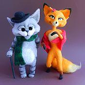Куклы и игрушки ручной работы. Ярмарка Мастеров - ручная работа Лиса Алиса и кот Базилио. Handmade.