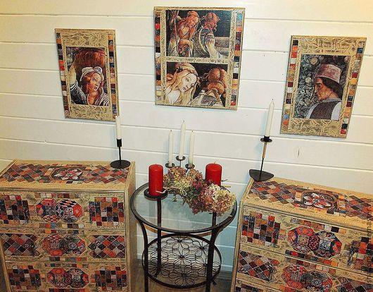 """Мебель ручной работы. Ярмарка Мастеров - ручная работа. Купить """"Итальянская мозаика"""" (комплект для спальни).. Handmade. Мебель, мебель для спальни"""
