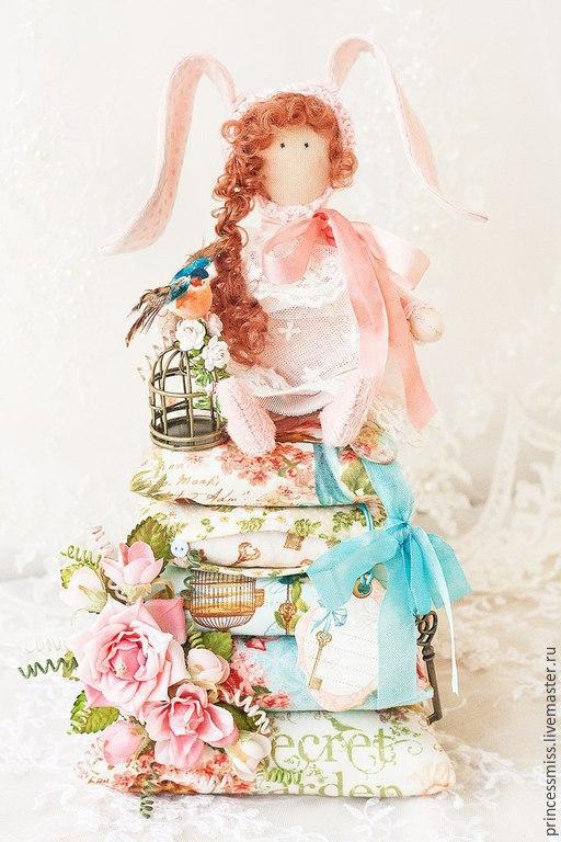 Куклы Тильды ручной работы. Ярмарка Мастеров - ручная работа. Купить Принцесса на горошине Зайка. Handmade. Разноцветный, подарок на новый год