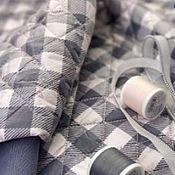 Материалы для творчества handmade. Livemaster - original item Fabric: Quilted jacket-beige-pinkish check. Handmade.