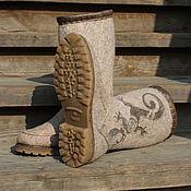 """Обувь ручной работы. Ярмарка Мастеров - ручная работа Сапожки валяные """"Reptiles"""". Handmade."""