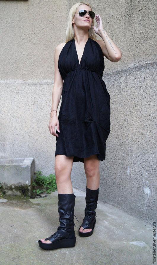 Платья ручной работы. Ярмарка Мастеров - ручная работа. Купить Летнее платье/Черное платье/F1591. Handmade. Черный, платье на наряд, туника