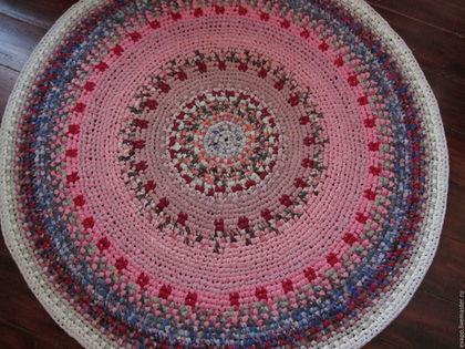 """Текстиль, ковры ручной работы. Ярмарка Мастеров - ручная работа. Купить Текстильный ковер """"И ты тоже будешь """"Розовым"""""""". Handmade."""
