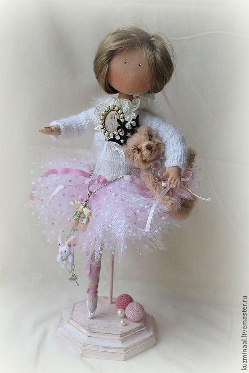 Человечки ручной работы. Ярмарка Мастеров - ручная работа. Купить Текстильная кукла балерина ADELINA. Handmade. Бледно-розовый, для балерин