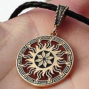 Украшения handmade. Livemaster - original item Alatyr, Tree of Life in the Sun. Gilding 999 and 925 silver art.Three million eleven thousand six hu. Handmade.