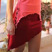 Одежда ручной работы. Ярмарка Мастеров - ручная работа Трикотажный пояс / мини юбка бордо. Handmade.