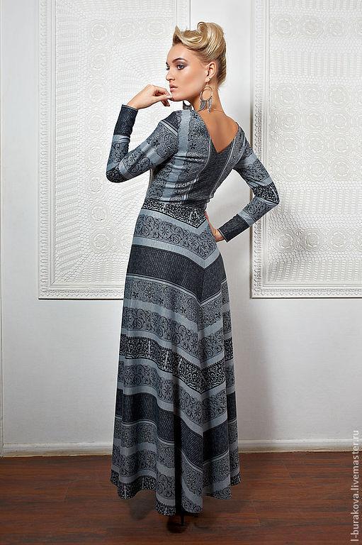 """Платья ручной работы. Ярмарка Мастеров - ручная работа. Купить Платье """"Чёрный ажур"""". Handmade. Серый, ажурное платье"""
