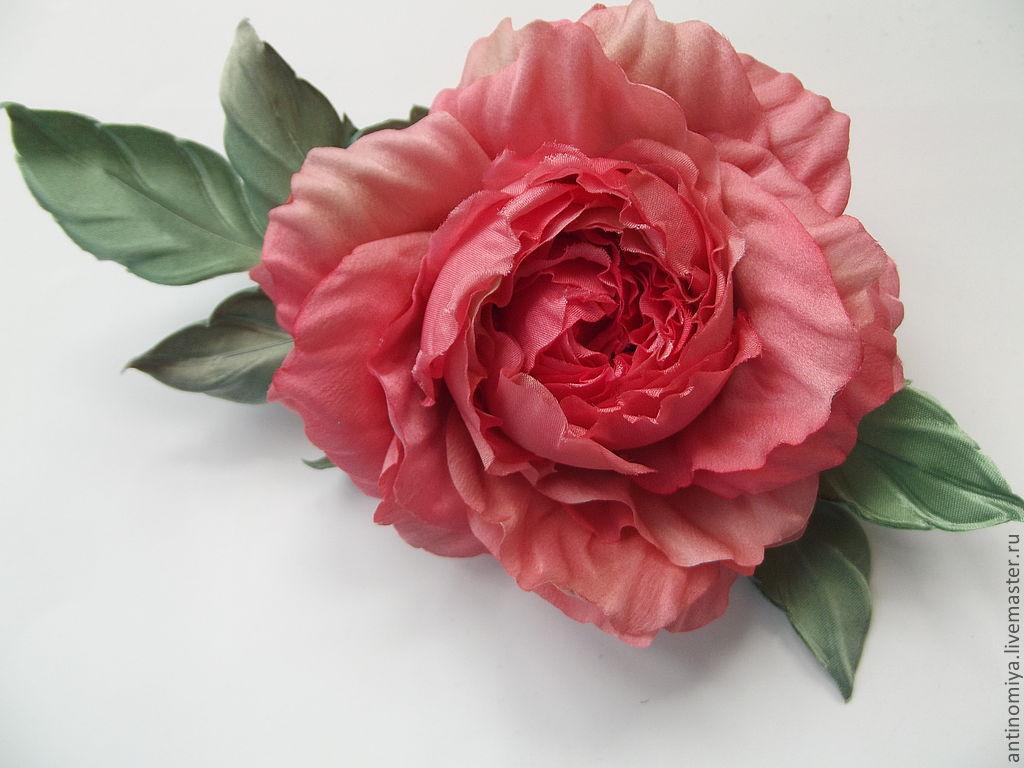 Ярмарка мастеров цветы из шелка пошаговый мастер класс + видео #5