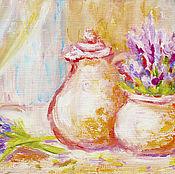 """Картины и панно ручной работы. Ярмарка Мастеров - ручная работа картина """"Тепло Прованса"""". Handmade."""