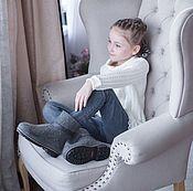 Обувь ручной работы handmade. Livemaster - original item boots: Half-boots kids unisex Grey. Handmade.