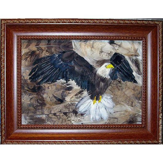 """Животные ручной работы. Ярмарка Мастеров - ручная работа. Купить """"Возвращение орлана"""". Handmade. Картины, Картины и панно"""