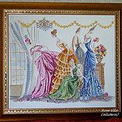 """Картины и панно ручной работы. Ярмарка Мастеров - ручная работа Вышитая картина Helen Tran """"На балу"""". Handmade."""