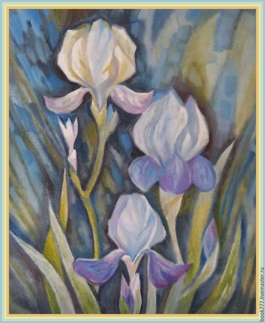 Картины цветов ручной работы. Ярмарка Мастеров - ручная работа. Купить Лиловых сумерек покой ( х. м ). Handmade.