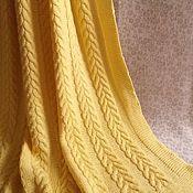 Для дома и интерьера handmade. Livemaster - original item Kids plaid knit of Italian Merino. Handmade. Handmade.