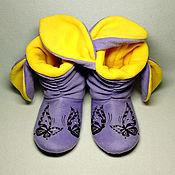 Обувь ручной работы handmade. Livemaster - original item Slippers-Bunny. Handmade.