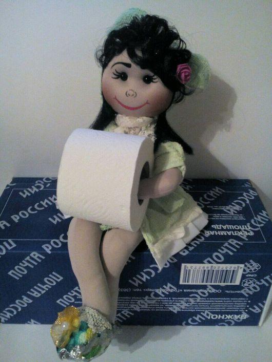 """Кухня ручной работы. Ярмарка Мастеров - ручная работа. Купить Кукла-держатель бумажных полотенец """"Ксюша"""". Handmade. подарок"""