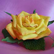 """Украшения ручной работы. Ярмарка Мастеров - ручная работа Брошь """"Желтая роза"""". Handmade."""