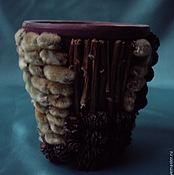 Цветы и флористика ручной работы. Ярмарка Мастеров - ручная работа горшочек декоративный для цветов. Handmade.