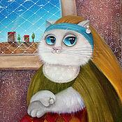 Картины ручной работы. Ярмарка Мастеров - ручная работа Картины кошек для гостиной в стиле романтизм. Handmade.