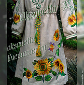 Одежда handmade. Livemaster - original item Embroidered tunic dress