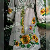 handmade. Livemaster - original item Embroidered tunic dress