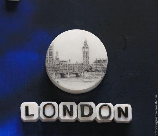 Мыло ручной работы. Ярмарка Мастеров - ручная работа. Купить Лондон  - Мыло ручной работы. Handmade. Тёмно-синий
