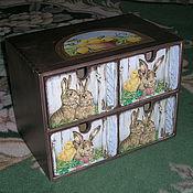 """Для дома и интерьера ручной работы. Ярмарка Мастеров - ручная работа Комод """"Крольчатник"""", стиль кантри. Handmade."""