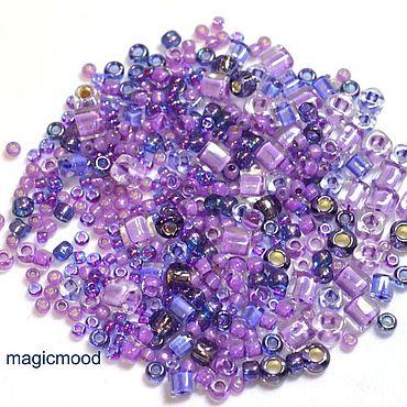 Materials for creativity handmade. Livemaster - original item 10gr Toho MIX 3207 kawaii Japanese beads TOHO Kawaii violet green. Handmade.