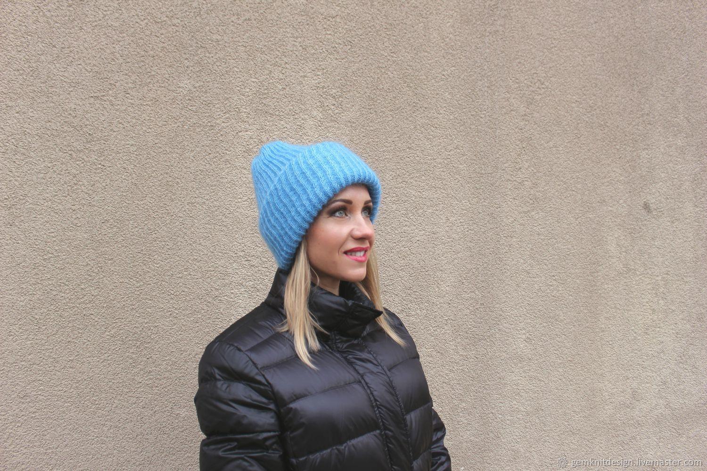 Hats handmade. Livemaster - handmade. Buy Oversize mohair hat . Blue winter  hat . 01b8b4c6094