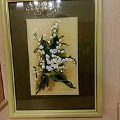 Фотокартины ручной работы. Ярмарка Мастеров - ручная работа Картина вышитая лентами. Handmade.