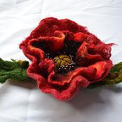 Украшения handmade. Livemaster - original item Brooch-poppy. Handmade.