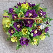 Цветы и флористика ручной работы. Ярмарка Мастеров - ручная работа Корзина с орхидеями. Handmade.
