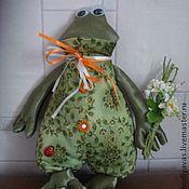 Куклы и игрушки ручной работы. Ярмарка Мастеров - ручная работа Лягух и букет ромашек или роз. Handmade.