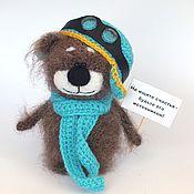 Куклы и игрушки ручной работы. Ярмарка Мастеров - ручная работа Мишка Балу - пилот (Медведь, вязаная игрушка, подарок). Handmade.