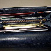 Сумки и аксессуары handmade. Livemaster - original item Purse-clutch No. 3 additional pockets. Dark blue. Handmade.