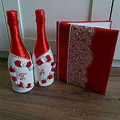 """Свадебный салон ручной работы. Ярмарка Мастеров - ручная работа Коллекция """"Красно-белая Роза"""". Handmade."""